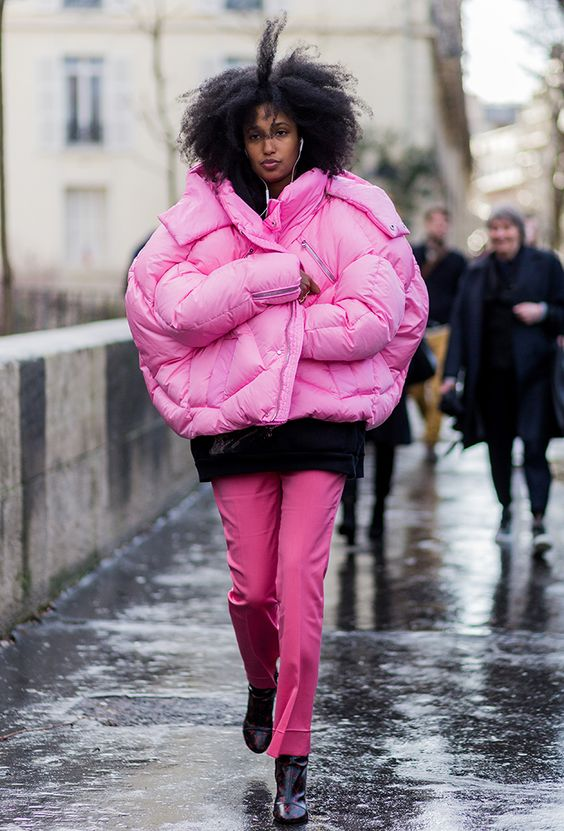 pink puffa