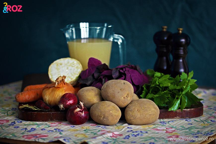 ingrediente pentru bors de legume
