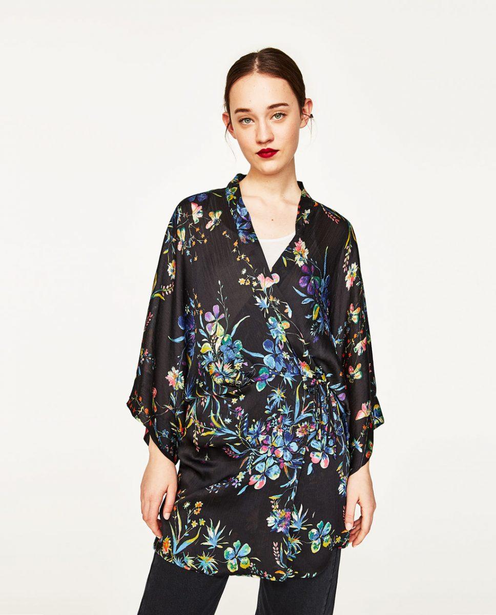 kimono scurt zara