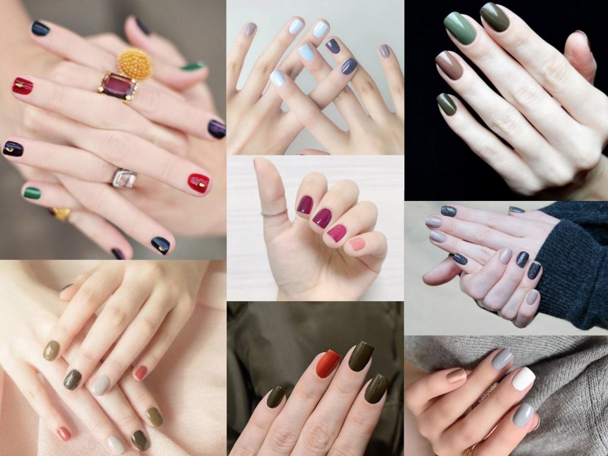 manichiura in culori diferite
