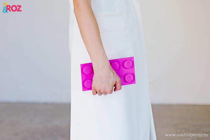 pink lego clutch