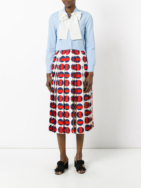 gucci polka dot pleated skirt