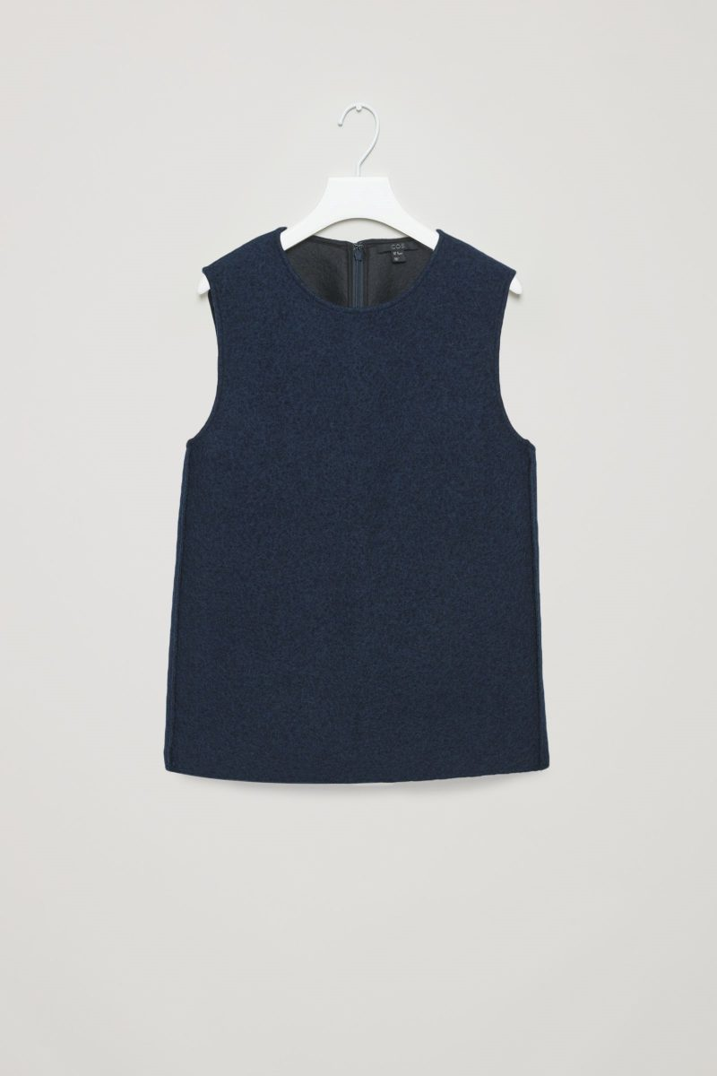 panelled wool top