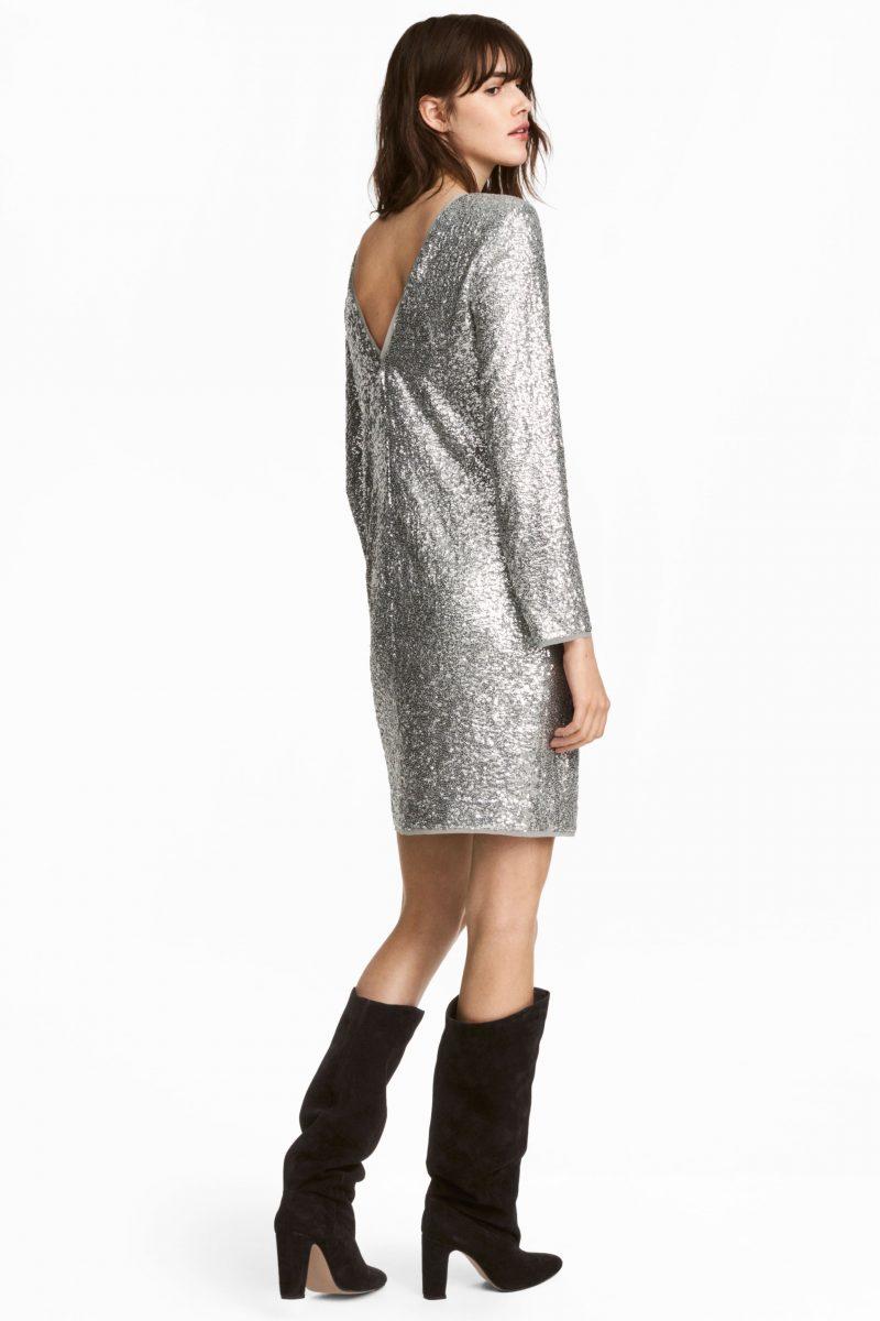 rochie argintie hm