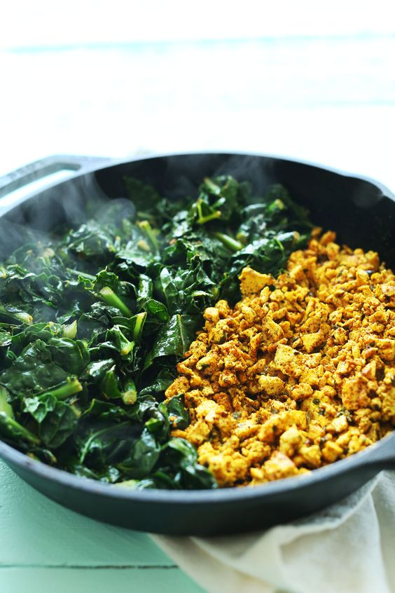sweet potato and kale breakfast