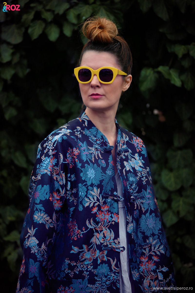 karen walker sunnies and zara kimono