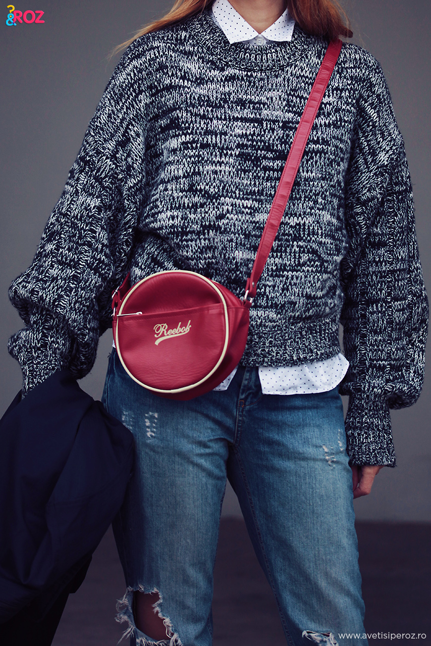 reebok bag and stories sweater