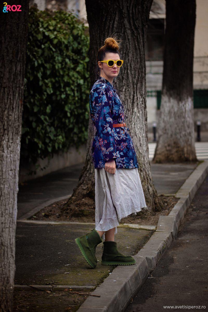 tinuta cu un kimono zara