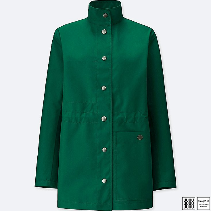 uniqlo green blocktech coat