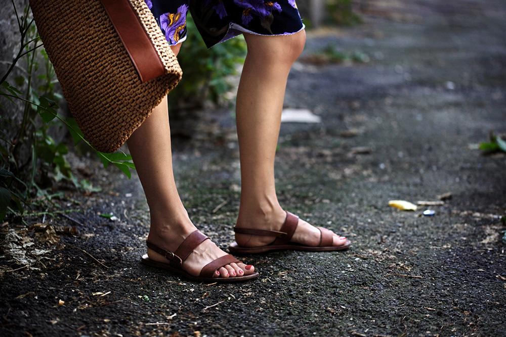 sandale de piele maro