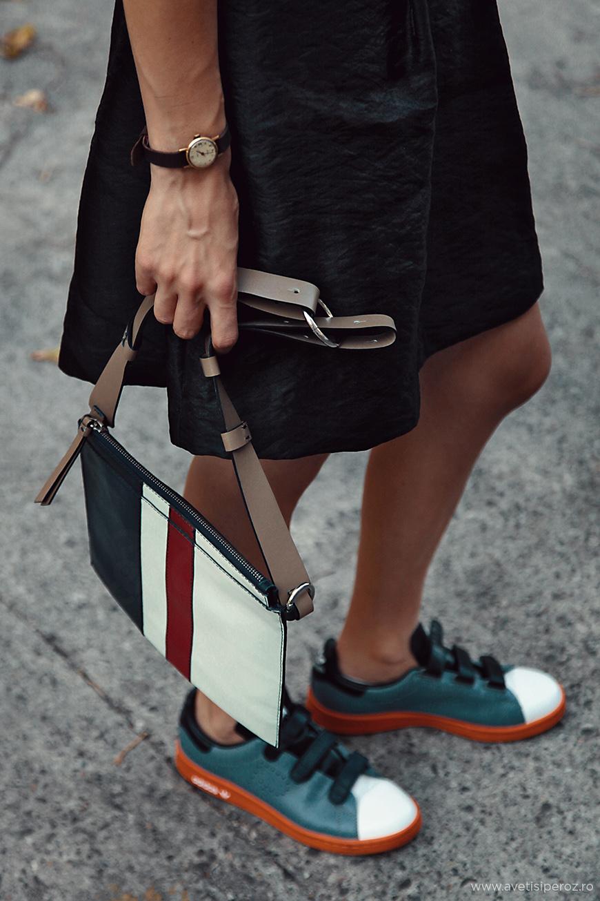 raf simons adidas and black dress