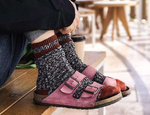 sandale birkenstock cu sosete