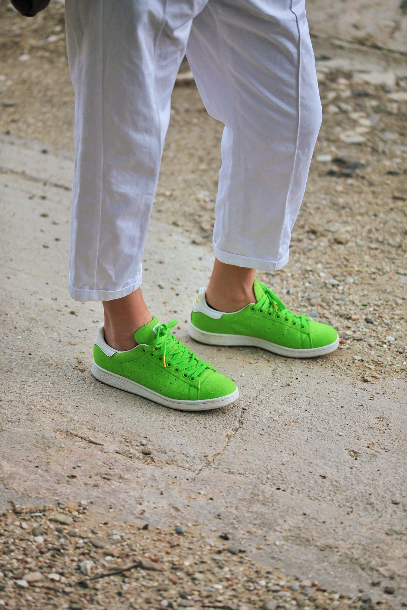 pharrell adidas tennis ball and white pants marni