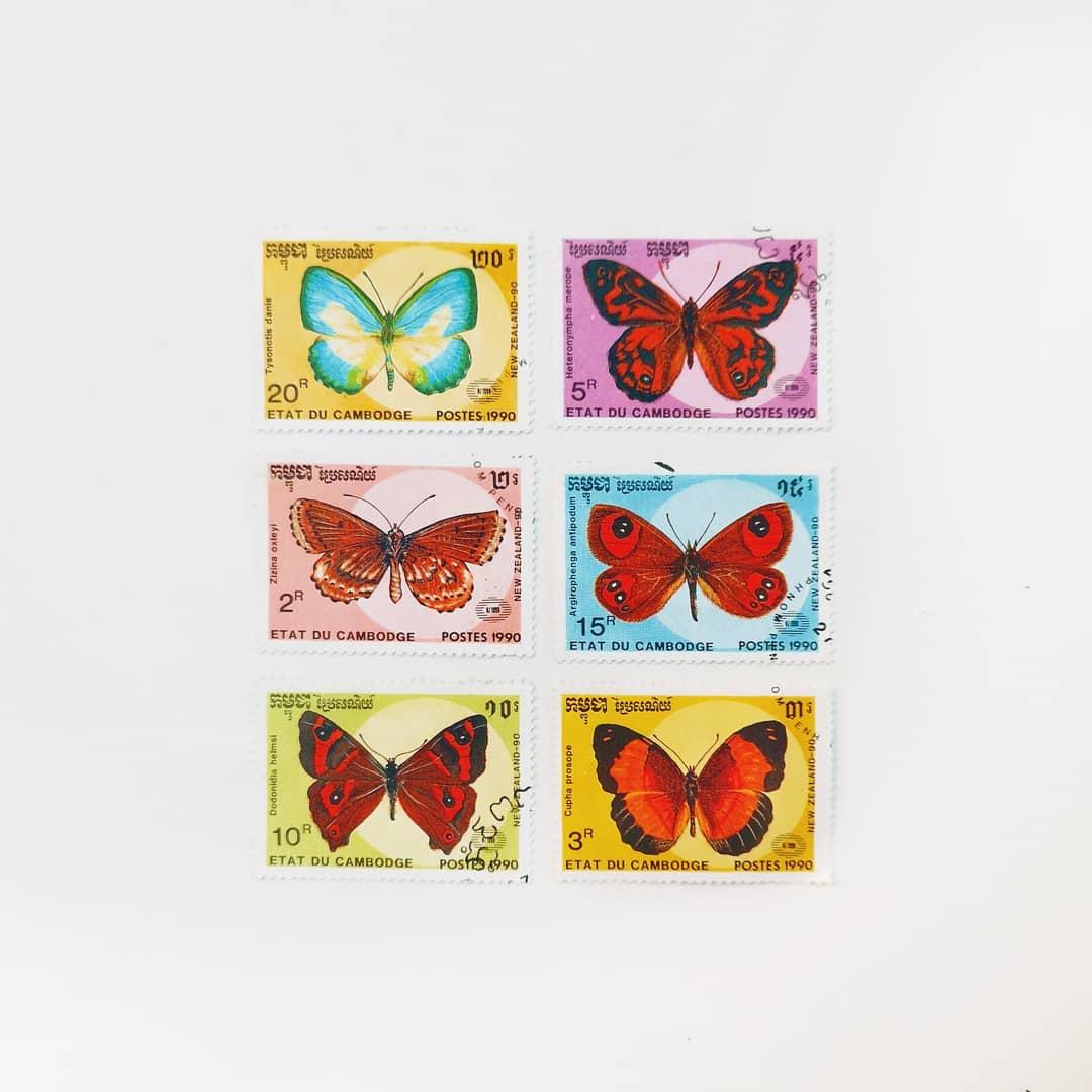 timbre cu fluturi