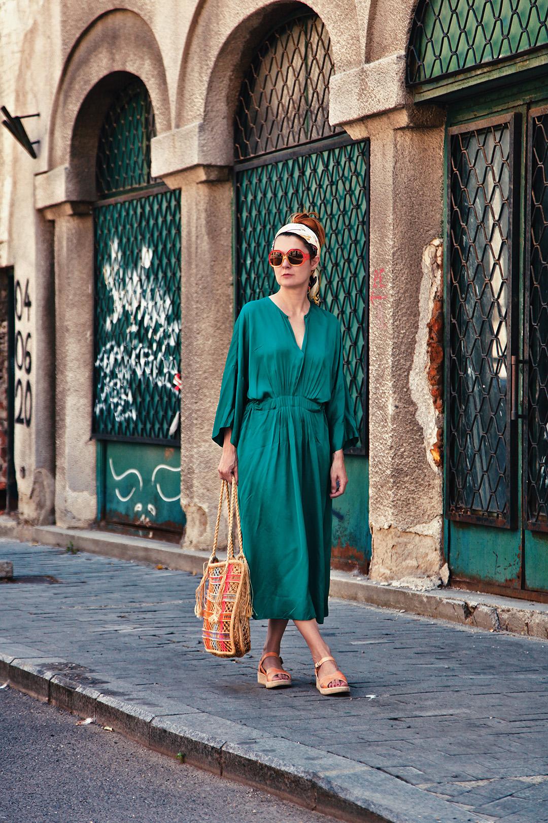 rochie verde de vara