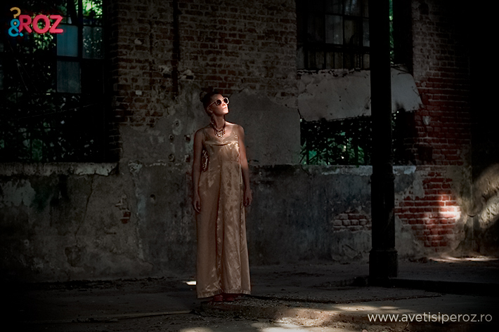 margiela for hm gold dress