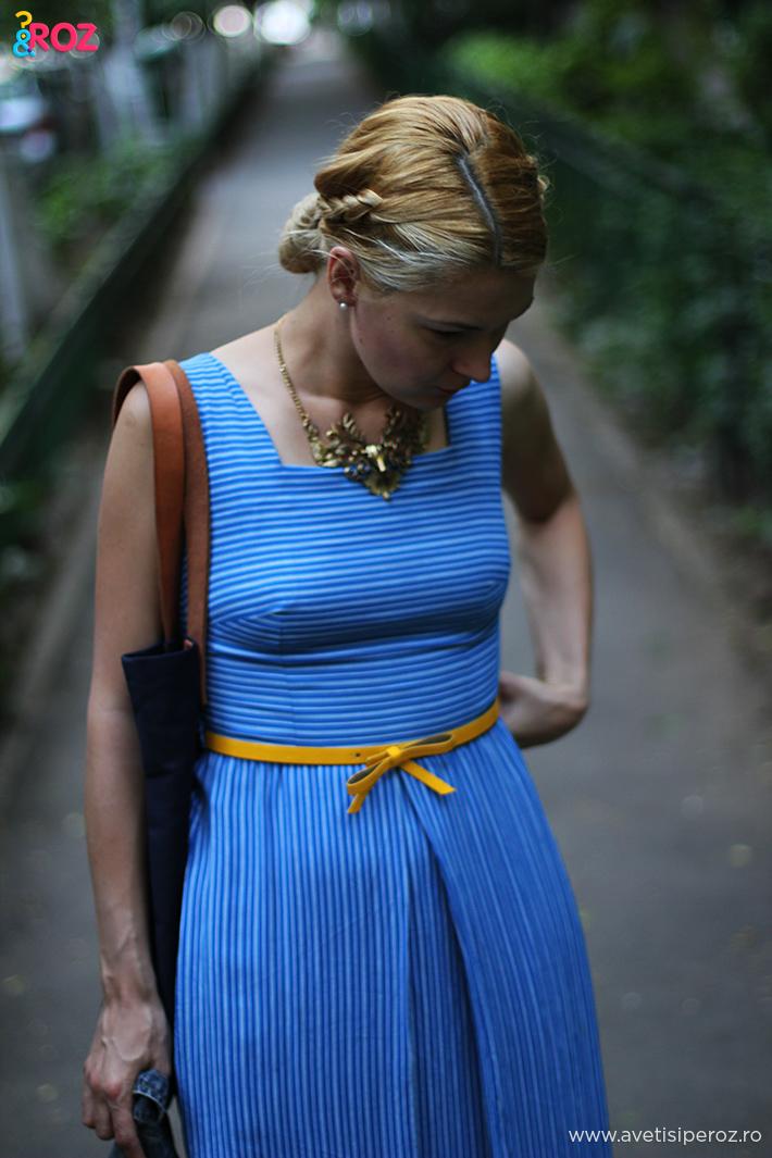 rochie vintage albastra