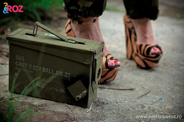 cutie army si sandale animal print