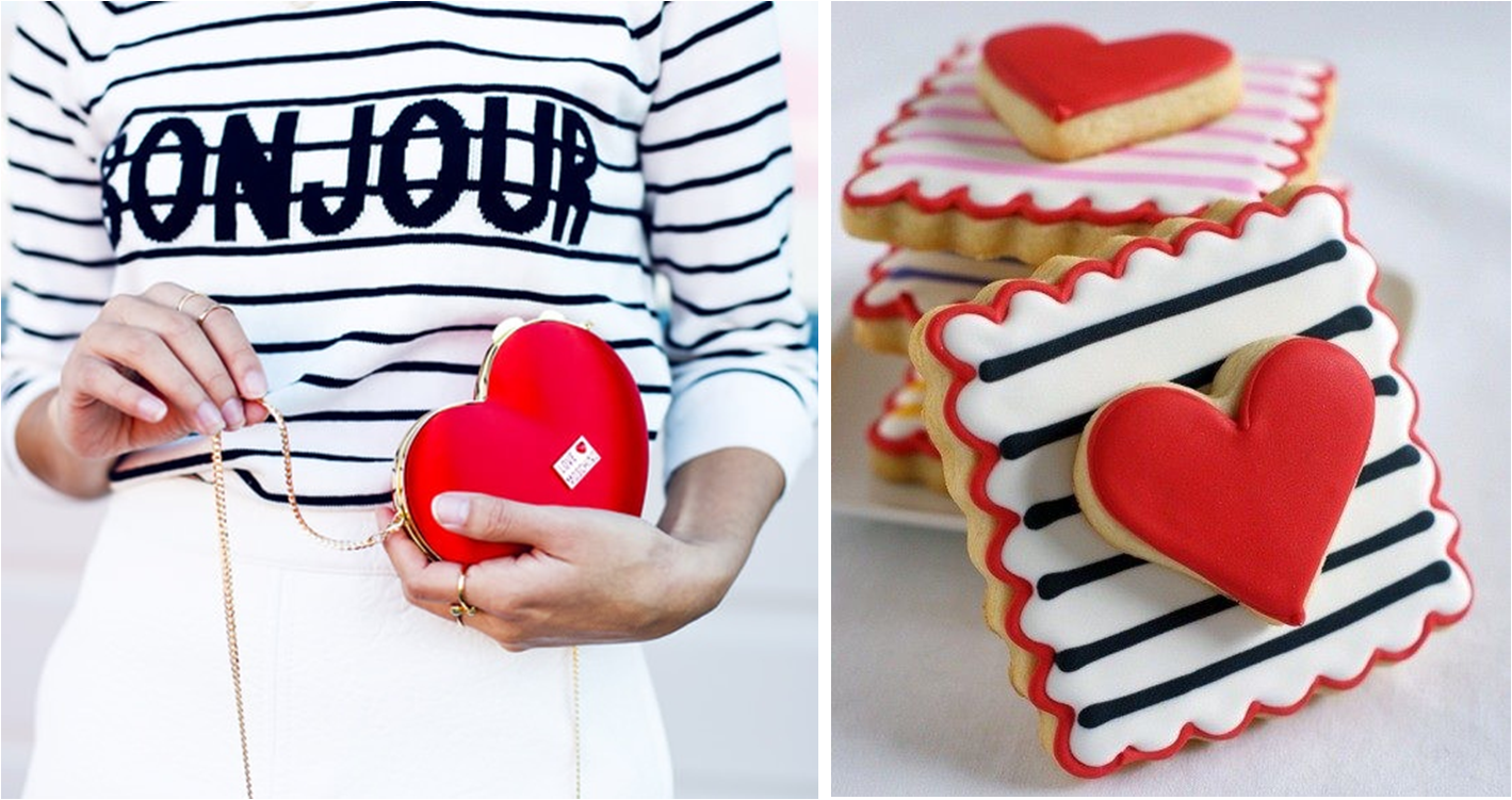 red heart and stripes