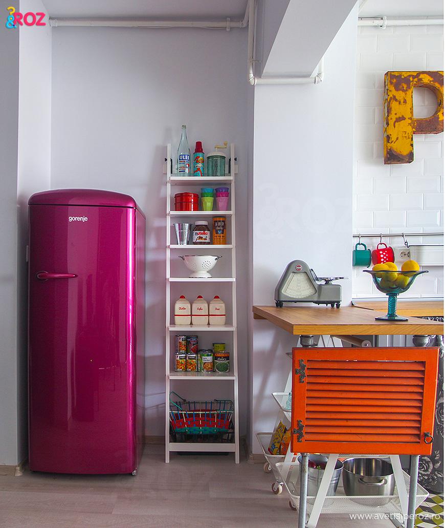 frigider retro roz gorejne