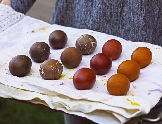 am vopsit oua in culori eco