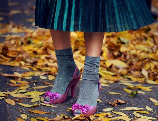 fusta plisata si pantofi roz melissa