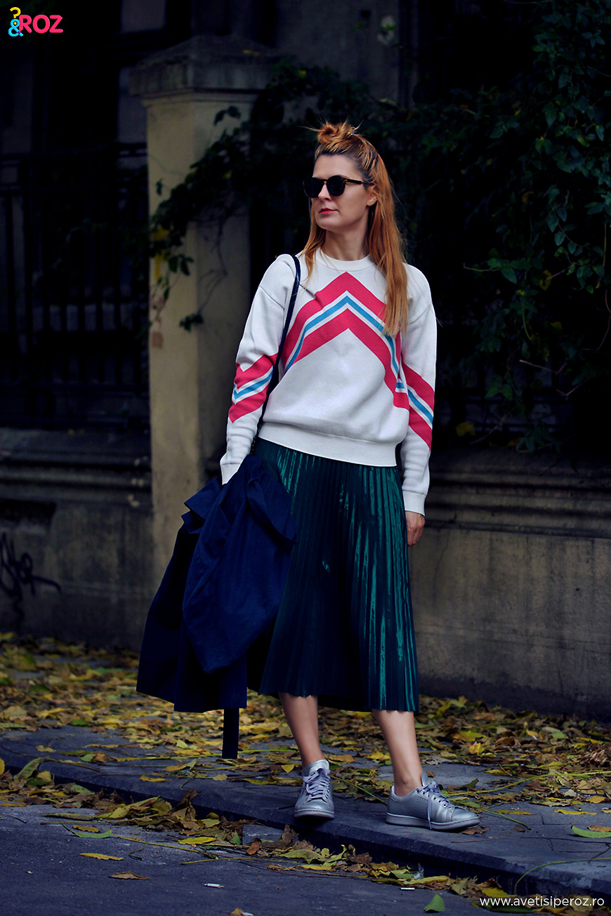 raf simons and pleated skirt