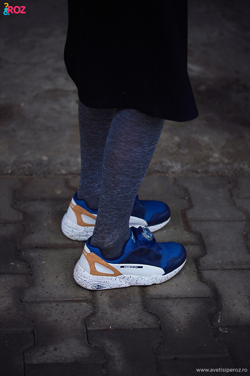 pantofi sport si fusta