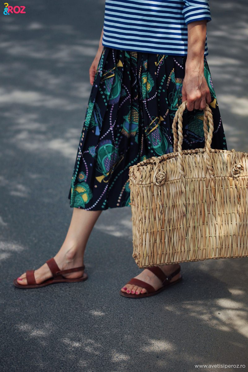 geanta papura si sandale grecesti