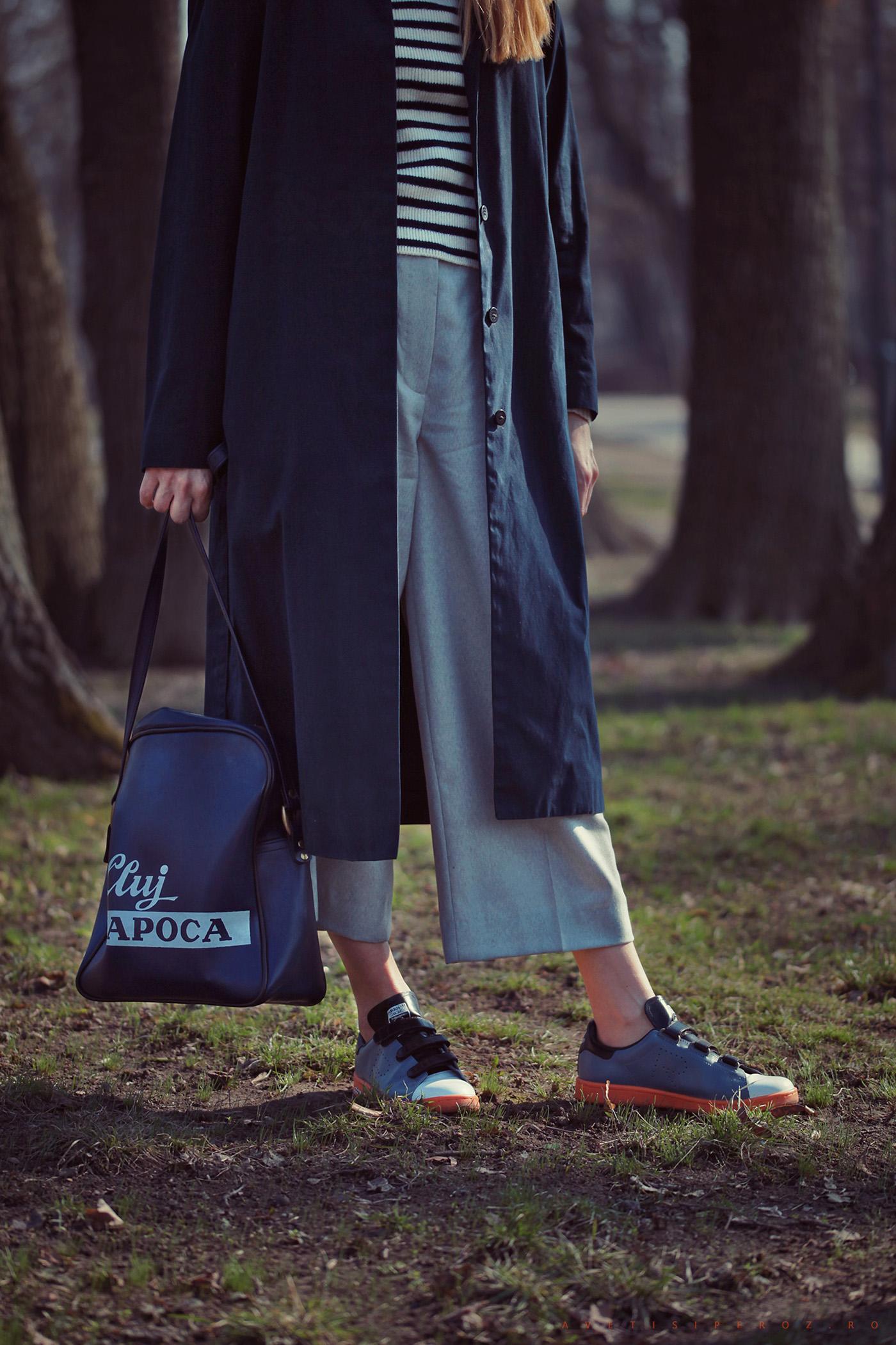 raf simpons adidas and grey pants