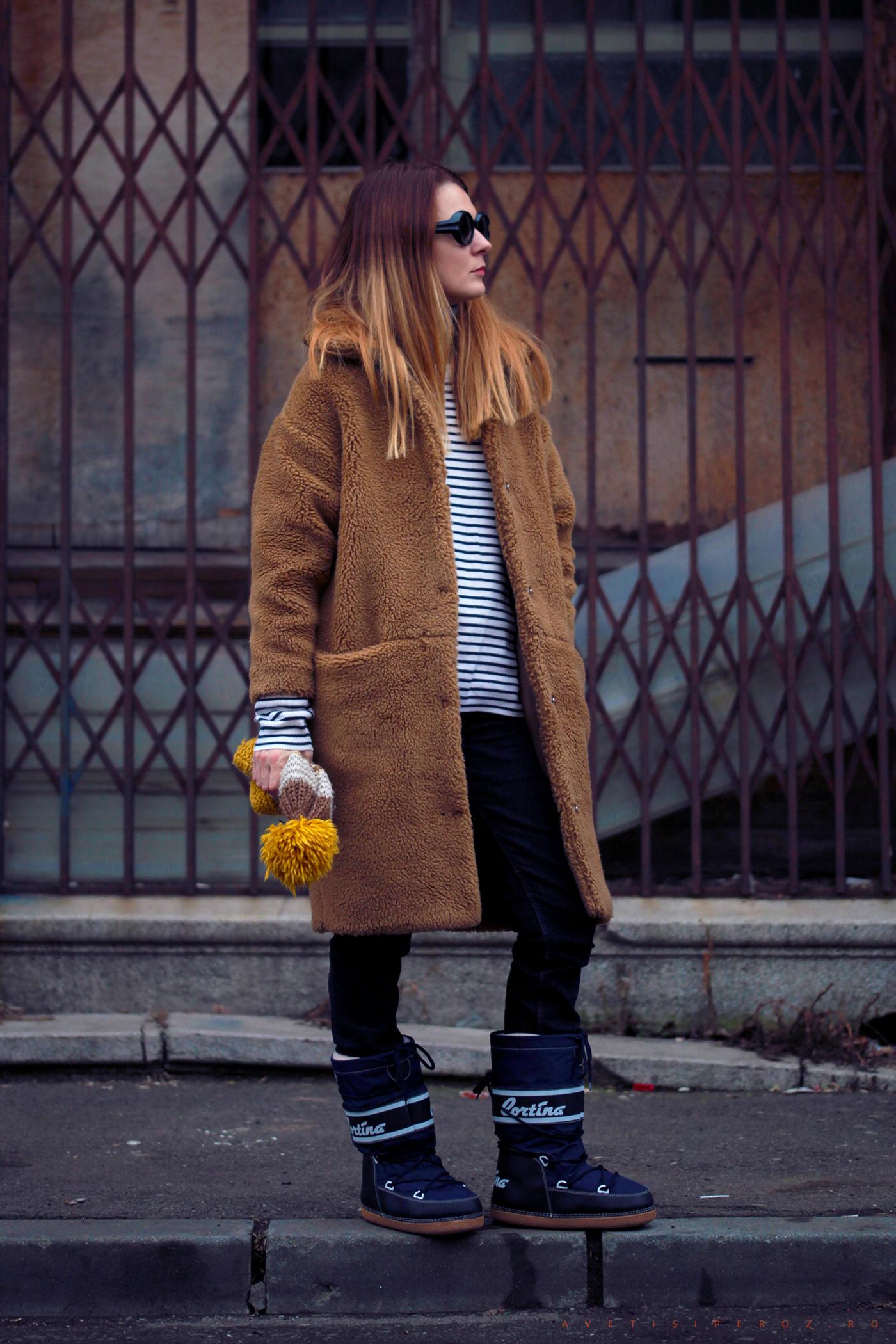 teddy bear coat outfit