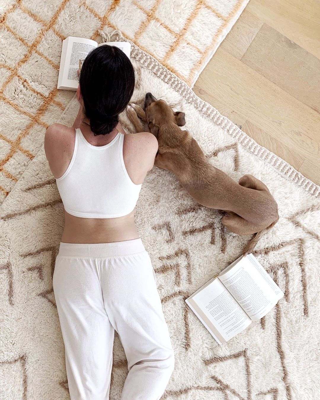 garance dore and her dog