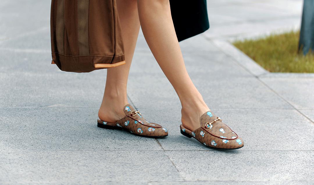 gucci x doraemon princetown slipper