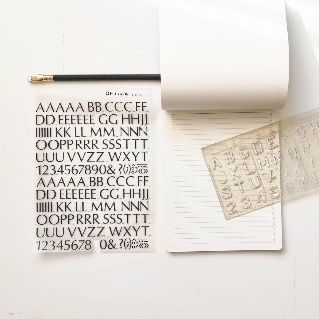 litere sablon si letraset