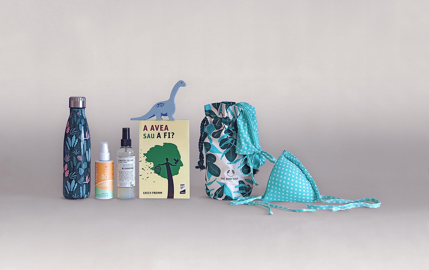 obiecte pentru o zi de plaja cu mai putina risipa